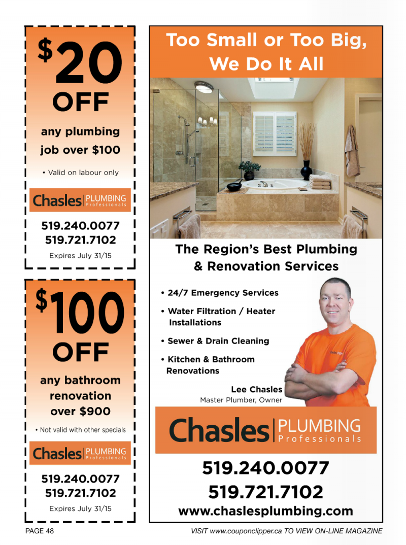 Chasles Plumbing Coupon Clipper